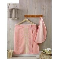 Набор для сауны женский juanna (килт, салма), цвет персиковый