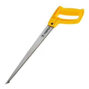 Ножовка узкая topex, для отверстий, 300 мм, 9tpi, закалённые зубья, пластм