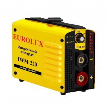 Сварочный аппарат инверторный eurolux iwm220, 220 в, 10-220 а, ip21, дуга