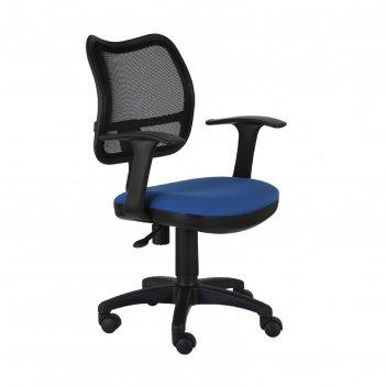 Кресло ch-797axsn/26-21 спинка сетка черный сиденье синий