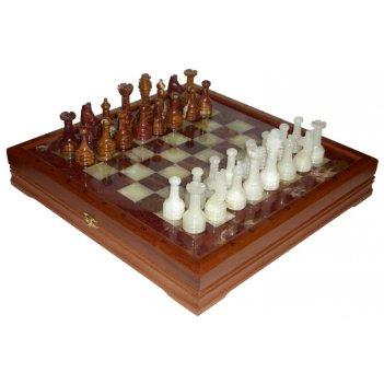 Шахматы каменные стандартные (высота короля 3,50) 41х41см