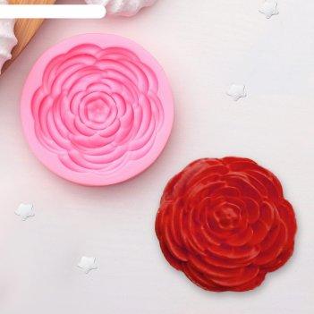 Молд силиконовый 5,7х5,7х1,2 см прекрасная роза