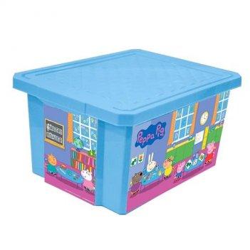 Детский ящик для хранения игрушек x-box свинка пеппа 17литров голубой