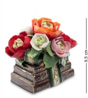 Cms-33/ 6 муз. композиция цветы и книги (pavone)