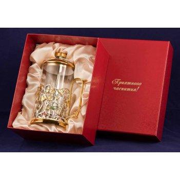 Френч-пресс колокольчик латунь, комбинированное покрытие (серебро, золото)