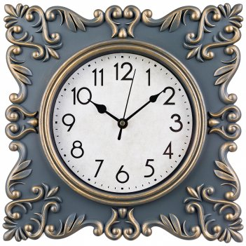 Часы настенные кварцевые royal house цветантик зеленый 30*30 см диаметр ци