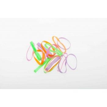 Резинки для волос dewal beauty цветные силикон., midi (25шт)