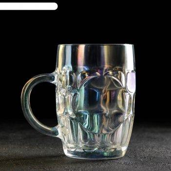 Кружка для пива высшая лига 500 мл, 10х14 см, цвет хамелеон
