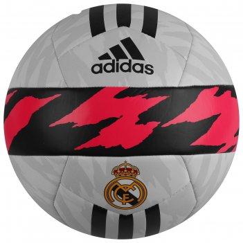 Мяч футб. adidas rm club арт. fs0284, р.5, тпу, 14 пан., маш.сш., бело-т.с
