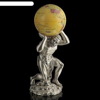 Статуэтка атлант и земной шар