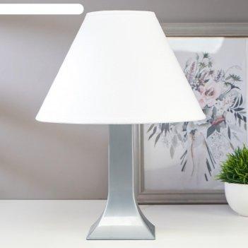 Лампа настольная 23204 1хе27 15вт серый d=25 см, h=33 см