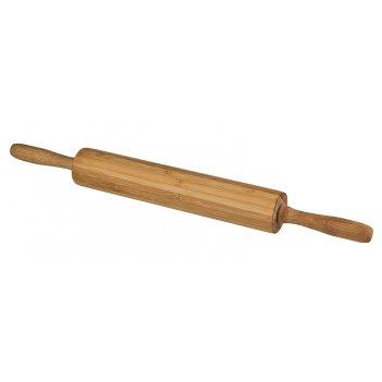 Скалка вращающаяся agness 44,5/4,5*4,5 см. бамбук (кор=12шт.)