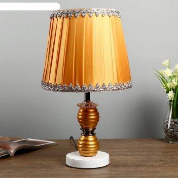Лампа настольная фрина 1х40вт е27 220в золото 24х24х42 см.