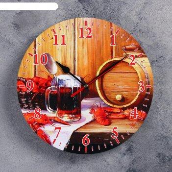 Часы настенные для бани банный набор