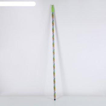 Черенок металлический с цветным принтом, винт 120 см, цвета микс