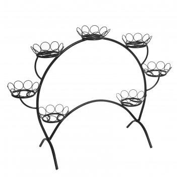 Подставка для цветов ромашки-7, черная