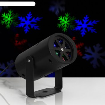 Световой прибор снежинки, сменный картридж в компл, 220v, мульти