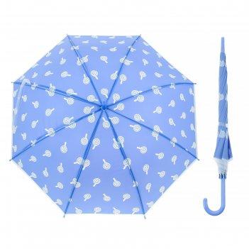 Зонт детский леденцы, полуавтоматический, r=45см, цвет голубой