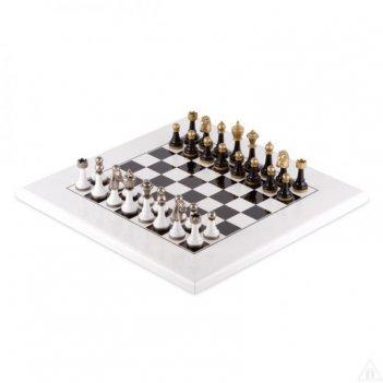 Шахматы 40х40 bianco-nero (6-8см) от italfama (дерево, бронза, олово)