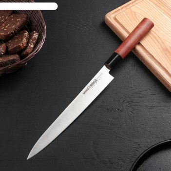 Нож кухонный samura okinawa янагиба 240 мм, aus-8, палисандр
