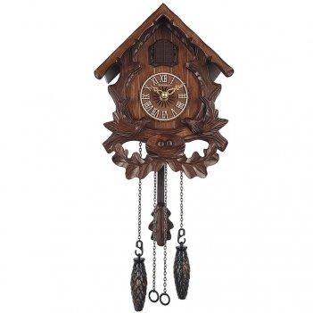 Настенные часы с кукушкой columbus cq-056c две птицы