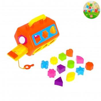 Развивающая игрушка-сортер «бочонок», микс