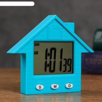 Часы  электронные домик 8.3х1.5х7.3 см , микс