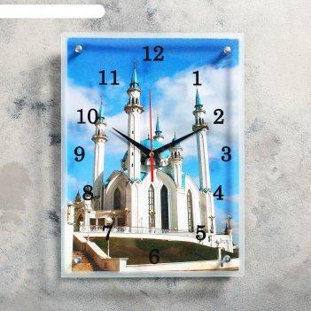 Часы настенные, серия: город, мечеть кул шариф, 30х40  см, микс