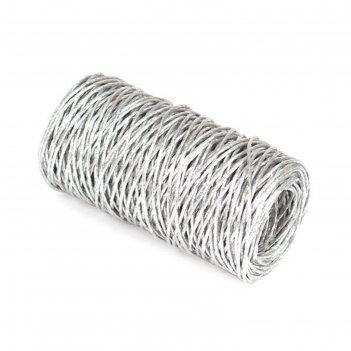 Проволока с бумажным покрытием 2 мм х 50 м, 100 г, серебряная