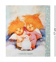 Ang-218 открытка снежный вечер 15х17
