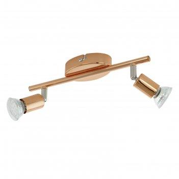 Светильник buzz-copper 2x3вт gu10 медь 28,5x6,5см