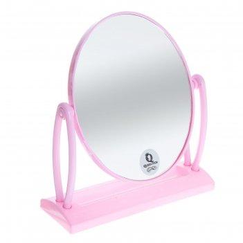 Зеркало на подставке, овальное, двустороннее, без увеличения, микс