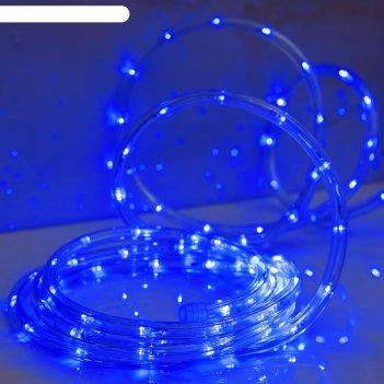 Led шнур 10 мм, круглый, 20 м, чейзинг, led/м-24-220v, с контр. 8р, синий