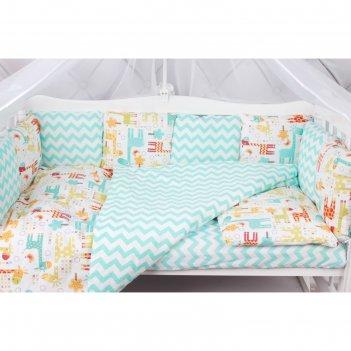 Комплект в кроватку «жирафики», 15 предметов