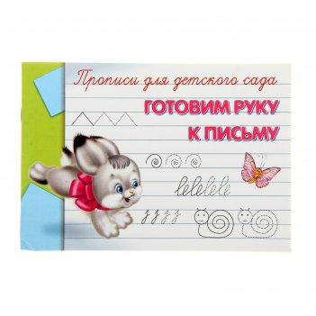 Прописи-раскраска для детского сада готовим руку к письму