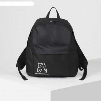 Рюкзак молод, 33*13*37, отд на молнии, н/карман, кот