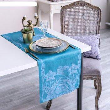 Дорожка на стол этель лён «луиза» 35x145 ± 3 см, 100% лён