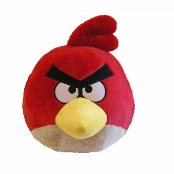 91205, angry birds мягкая игрушка 40см, со звуком, красная птица