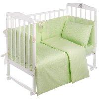Комплект в кроватку venere, 4 предмета, светло-зелёный, бязь