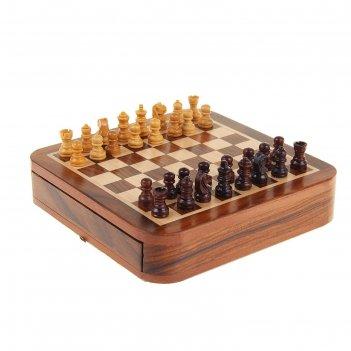 Шахматы дерево на магните 26х26х4 см