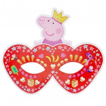 Бумажные маски пеппа-принцесса, набор 6 шт.