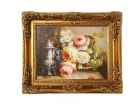 Картина букет цветов полотно-30*40 см.багет-54*4...