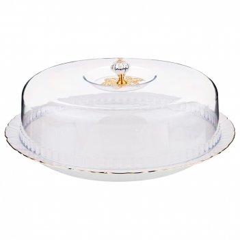 Тортовница диаметр=28 см с крышкой (кор=8шт.)