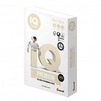 Бумага а4, 150 листов iq premium, 250г/м2, класс «а+», белизна 169%