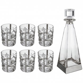 Набор для виски 7 пр.: штоф+6 стаканов 700/300 мл. высота=33/10 см.