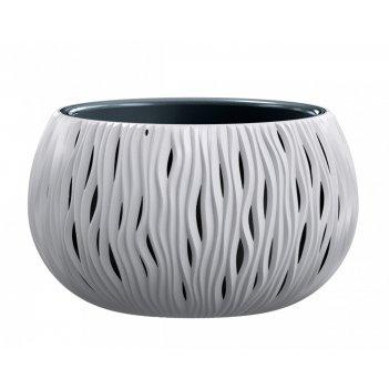 Кашпо для цветов prosperplast sandy bowl 3,9л, мокко