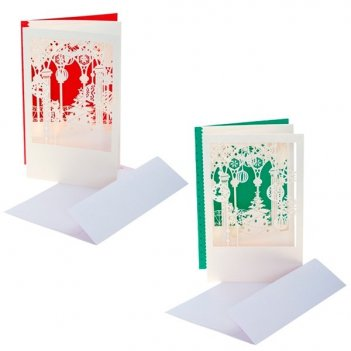 Новогодняя открытка в конверте, 18х12 см, 2 в.