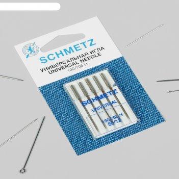 Иглы для бытовых швейных машин, универсальные, №80, 5 шт