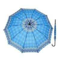 Зонт полуавтоматический «ромбы», 10 спиц, r = 56 см, цвет синий