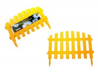 Забор декоративный №2 желтый зд 02 длина 3 м (набор 7шт)